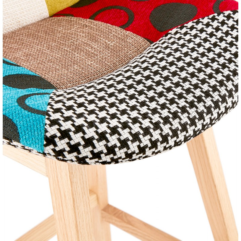 Tabouret de bar mi-hauteur bohème patchwork en tissu MAGIC MINI (multicolore) - image 46635