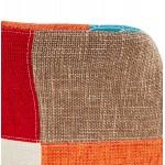 Tabouret de bar mi-hauteur bohème patchwork en tissu MAGIC MINI (multicolore)