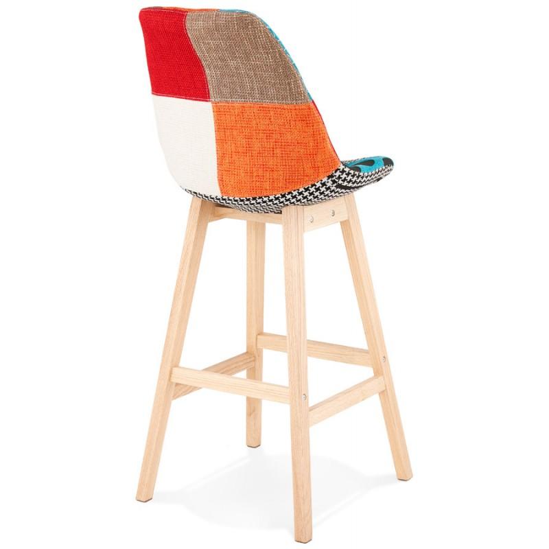 Tabouret de bar chaise de bar bohème patchwork en tissu MAGIC (multicolore) - image 46647