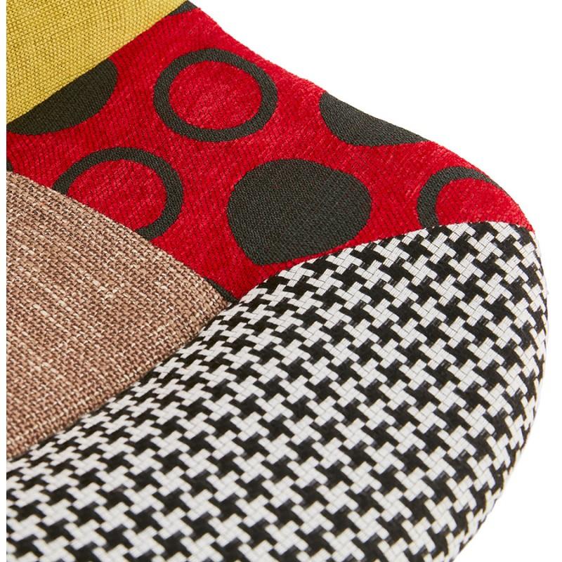 Sgabello da bar bohemien patchwork in tessuto MAGIC (multicolore) - image 46651