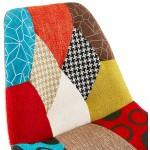 Taburete de bar patchwork bohemio taburete de bar en tejido MAGIC (multicolor)