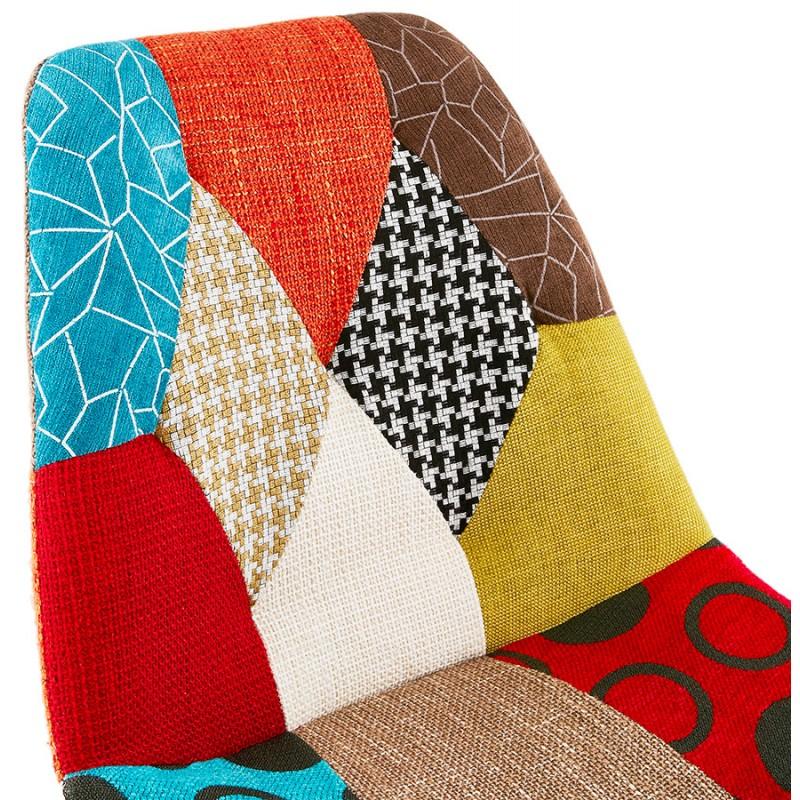 Sgabello da bar bohemien patchwork in tessuto MAGIC (multicolore) - image 46655