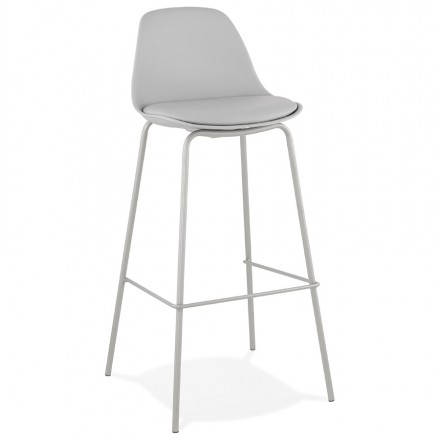 Bar stool industrial bar chair with light gray legs OCEANE (light gray)