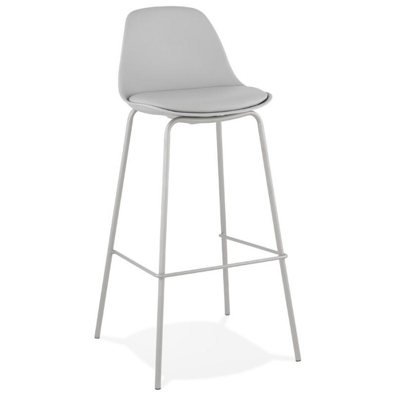 Tabouret de bar chaise de bar industriel pieds gris clair OCEANE (gris clair)