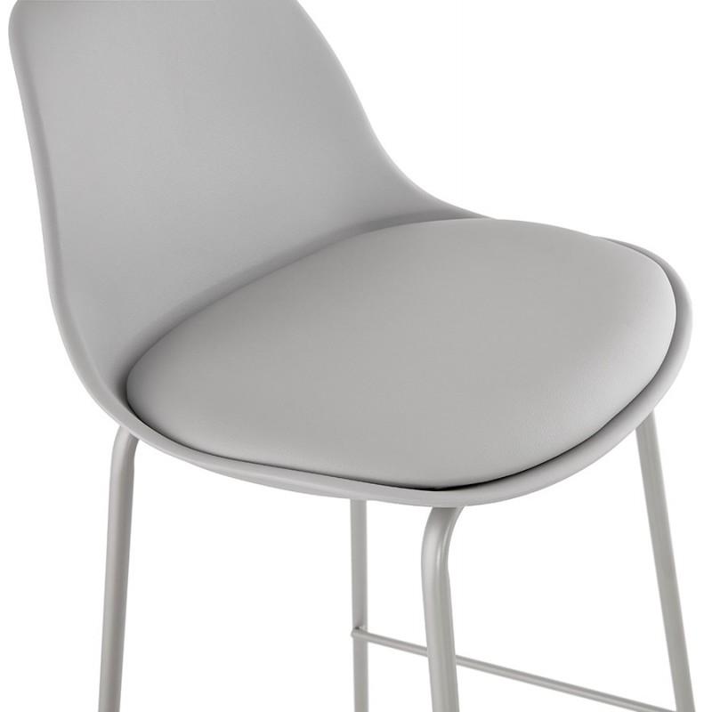 Bar stool industrial bar chair with light gray legs OCEANE (light gray) - image 46679