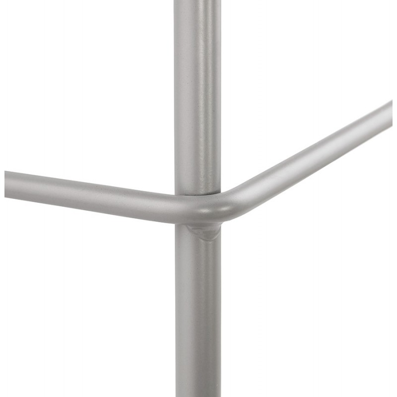 Bar stool industrial bar chair with light gray legs OCEANE (light gray) - image 46687