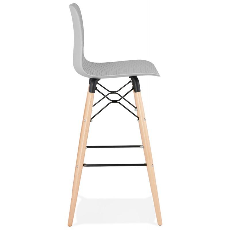 Tabouret de bar design scandinave FAIRY (gris clair) - image 46691