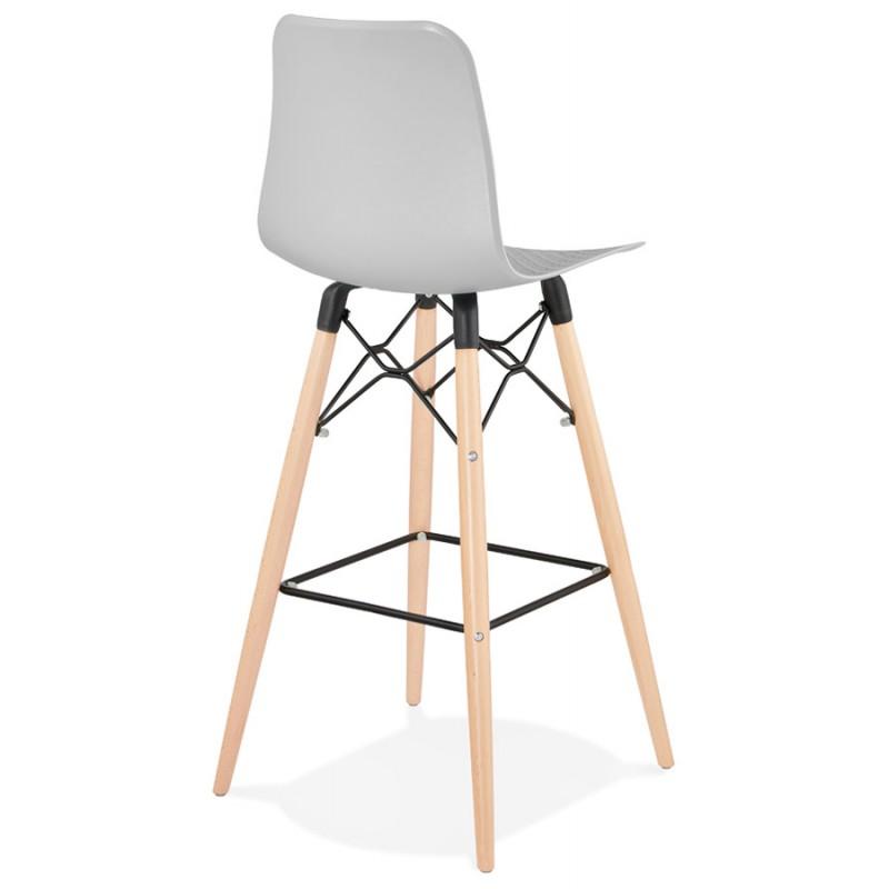 FAIRY Scandinavian design bar stool (light grey) - image 46692