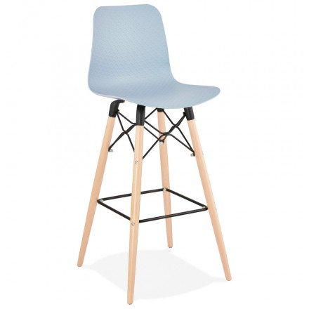 Tabouret de bar design scandinave FAIRY (bleu clair)