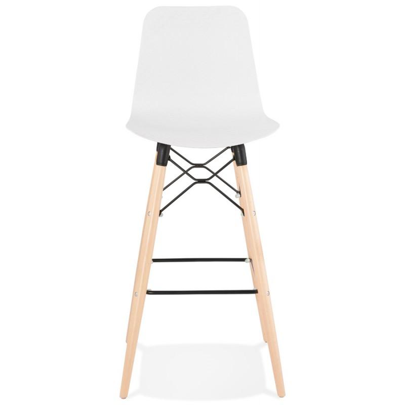 Tabouret de bar design scandinave FAIRY (blanc) - image 46735