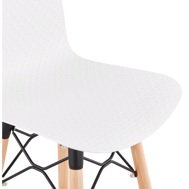 Tabouret de bar design scandinave FAIRY (blanc) - image 46740