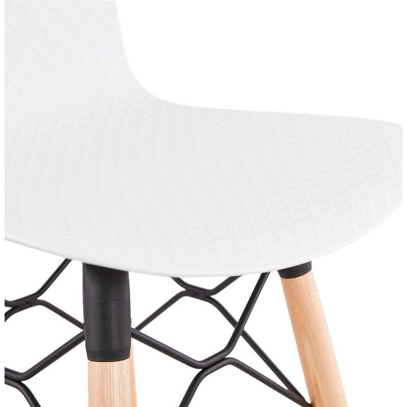 Tabouret de bar design scandinave FAIRY (blanc) - image 46741