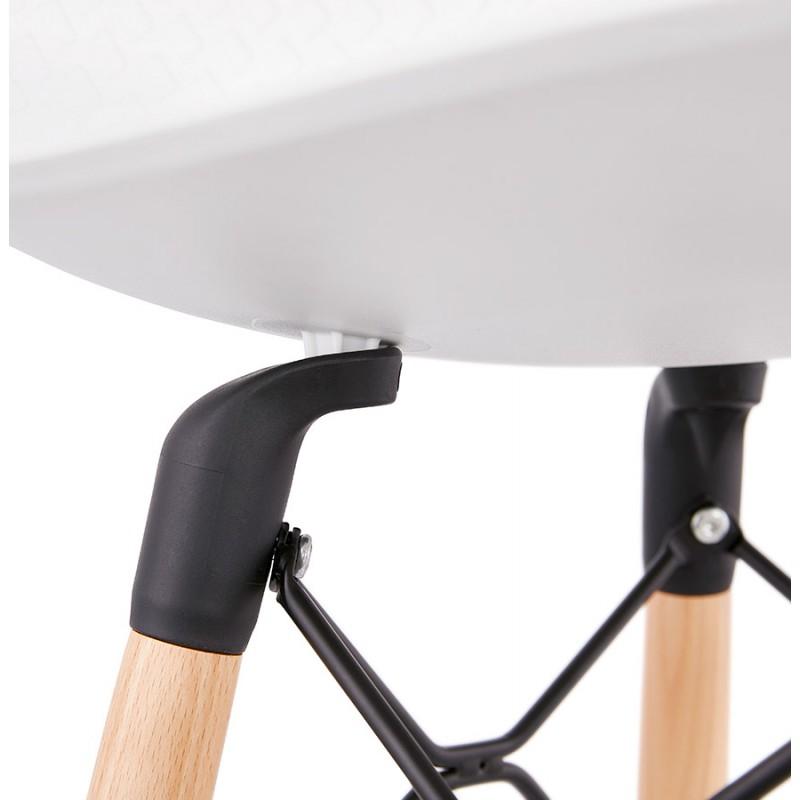 Tabouret de bar design scandinave FAIRY (blanc) - image 46744