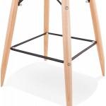 Tabouret de bar design scandinave FAIRY (blanc)