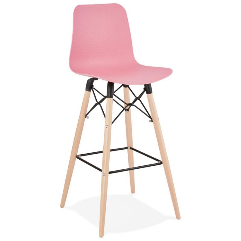 FAIRY Scandinavian design bar stool (pink) - image 46749