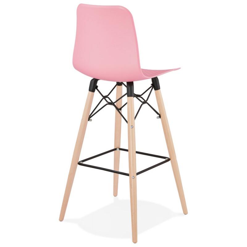FAIRY Scandinavian design bar stool (pink) - image 46752