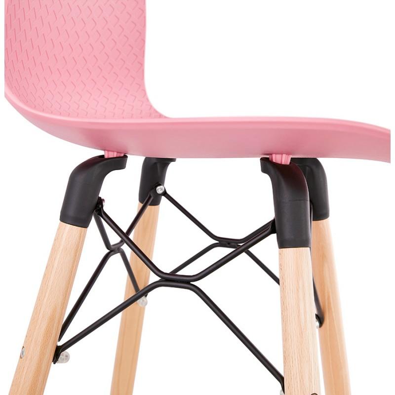 FAIRY Scandinavian design bar stool (pink) - image 46757