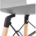 Tabouret de bar mi-hauteur scandinave FAIRY MINI (gris clair)