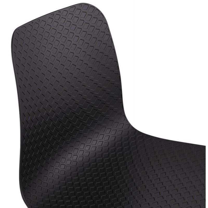 Tabouret de bar mi-hauteur scandinave FAIRY MINI (noir) - image 46784
