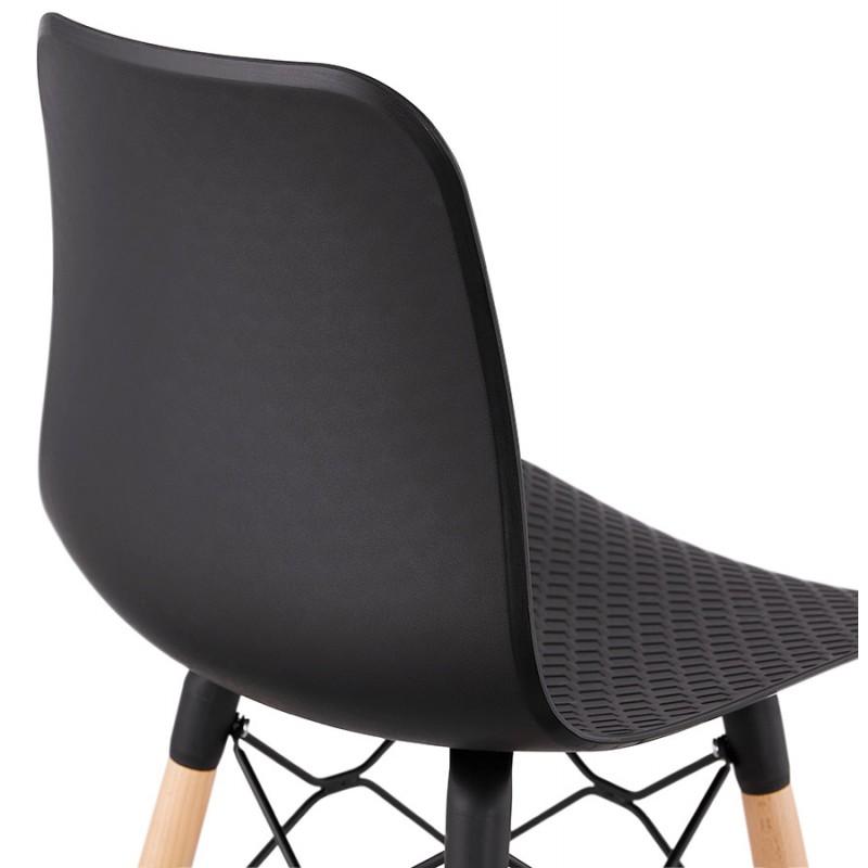 Tabouret de bar mi-hauteur scandinave FAIRY MINI (noir) - image 46788