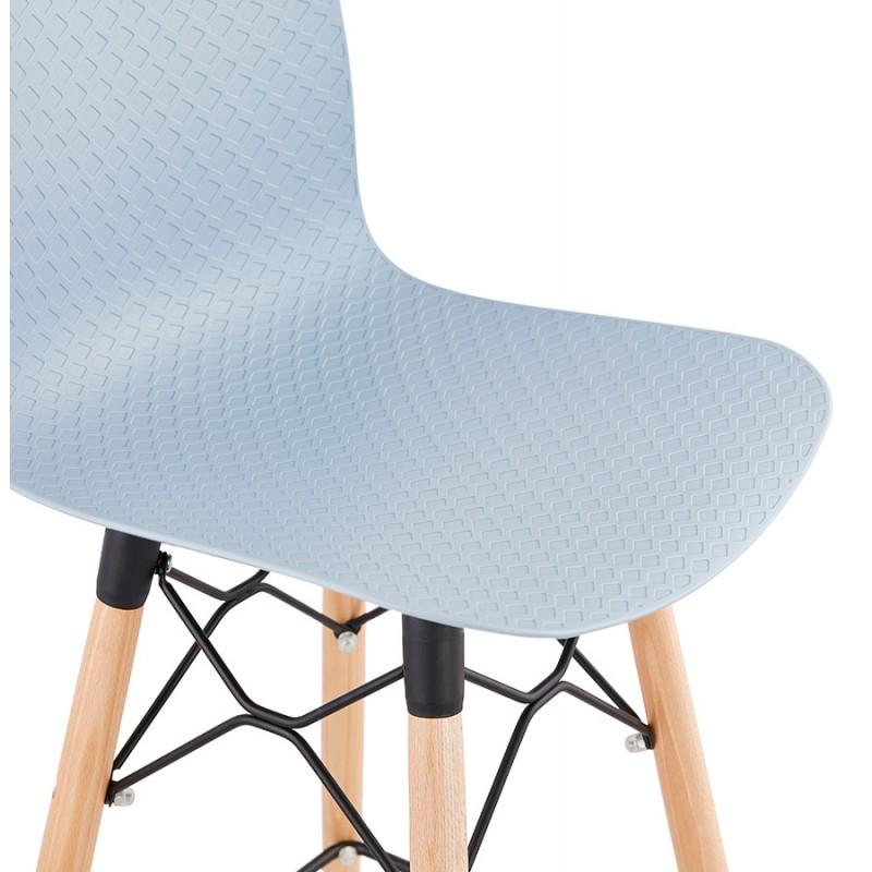 Tabouret de bar mi-hauteur scandinave FAIRY MINI (bleu clair) - image 46800