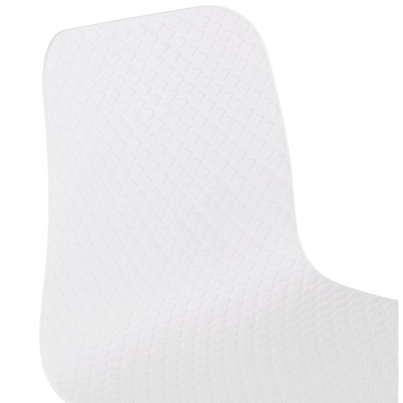 Tabouret de bar mi-hauteur scandinave FAIRY MINI (blanc) - image 46814