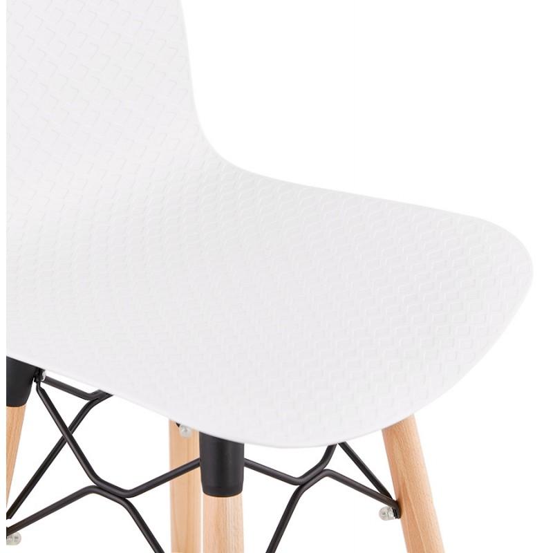 Tabouret de bar mi-hauteur scandinave FAIRY MINI (blanc) - image 46815