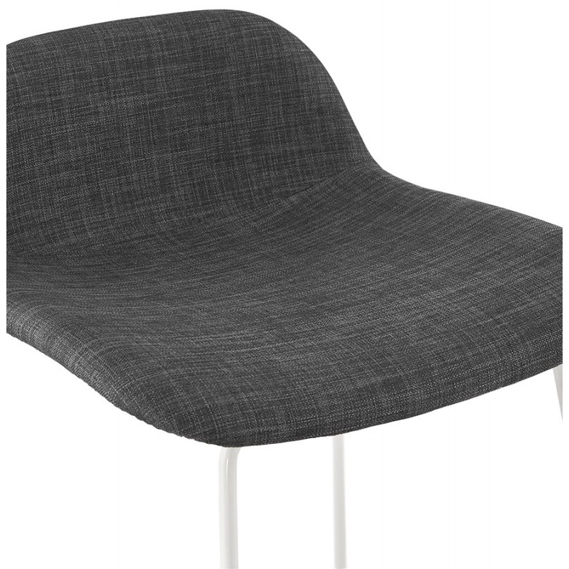 Small-height bar stool in white metal foot fabric CUTIE MINI (anthracite grey) - image 46844