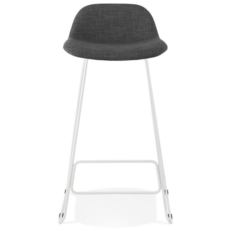 Tabouret de bar chaise de bar en tissu pieds métal blanc CUTIE (gris anthracite) - image 46852