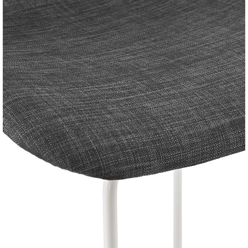 Tabouret de bar chaise de bar en tissu pieds métal blanc CUTIE (gris anthracite) - image 46857
