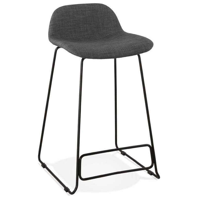Industriale sgabello barra a media altezza in tessuto nero piede metallico CUTIE MINI (grigio antracite) - image 46863