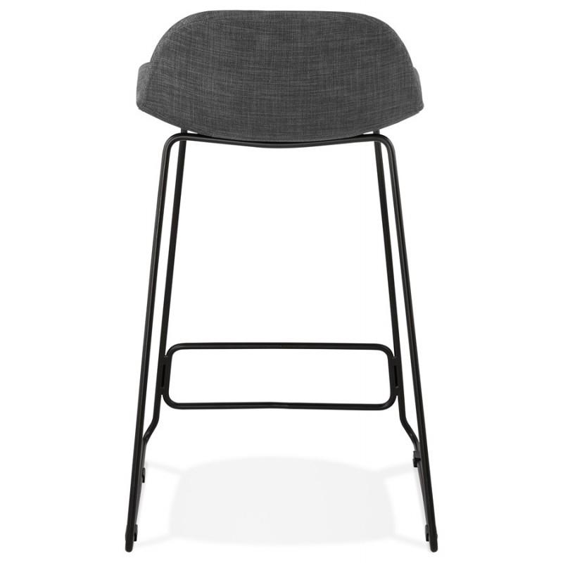 Taburete industrial de barra de altura media en tejido de pie de metal negro CUTIE MINI (gris antracita) - image 46867