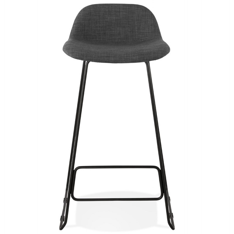 Industrial bar chair bar stool in black metal legs CUTIE (anthracite gray) - image 46875