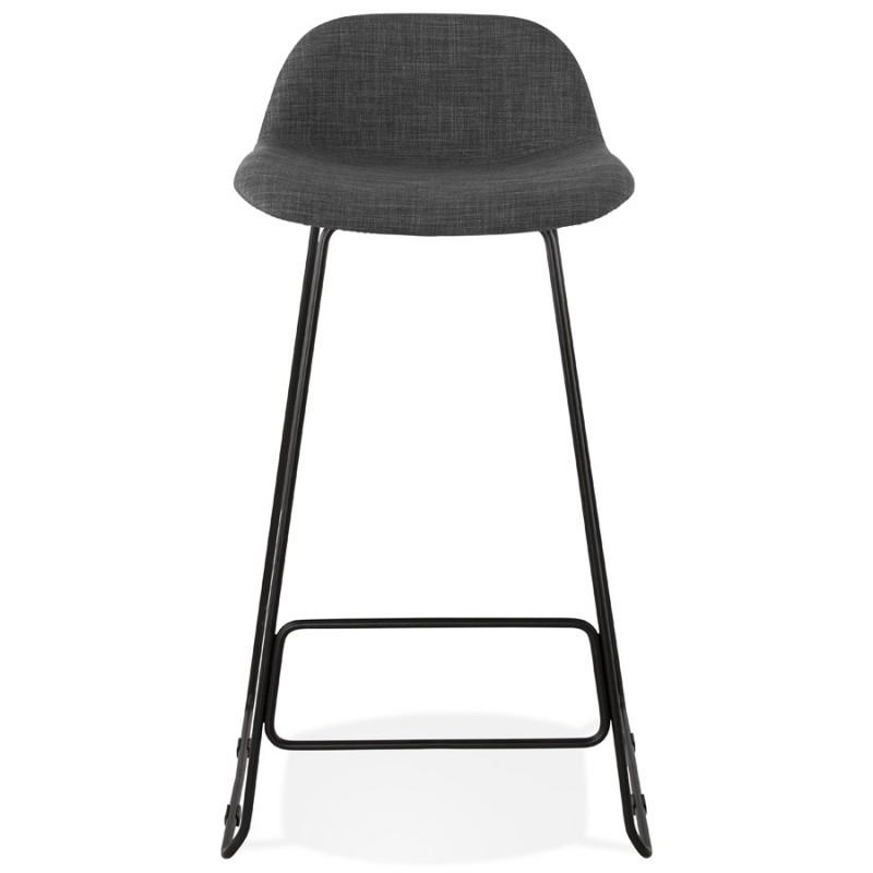 Tabouret de bar chaise de bar industriel en tissu pieds métal noir CUTIE (gris anthracite) - image 46875