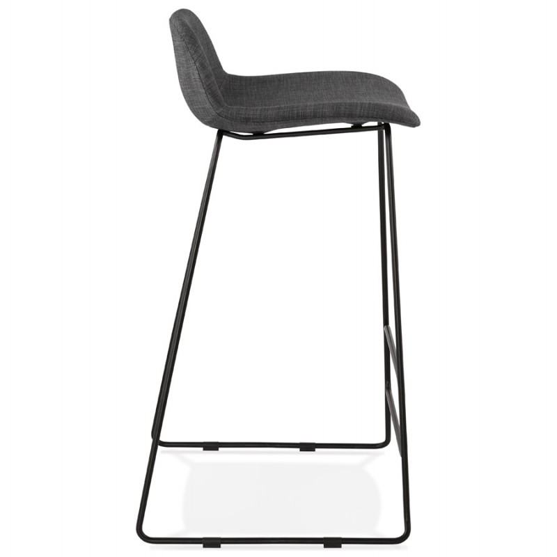 Industrial bar chair bar stool in black metal legs CUTIE (anthracite gray) - image 46876