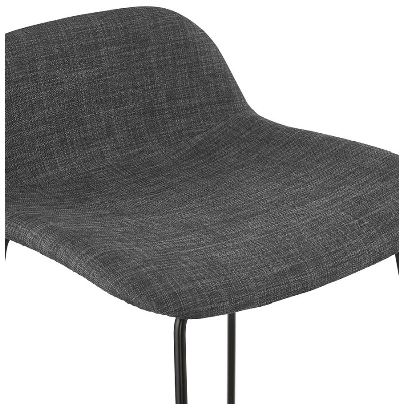 Industrial bar chair bar stool in black metal legs CUTIE (anthracite gray) - image 46879