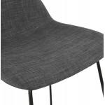 Industrial bar chair bar stool in black metal legs CUTIE (anthracite gray)