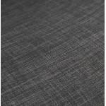 Sgabello da bar sedia da bar industriale con gambe in metallo nero CUTIE (grigio antracite)