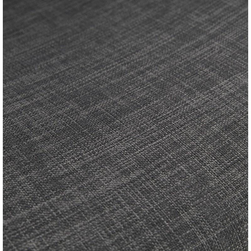 Tabouret de bar chaise de bar industriel en tissu pieds métal noir CUTIE (gris anthracite) - image 46881