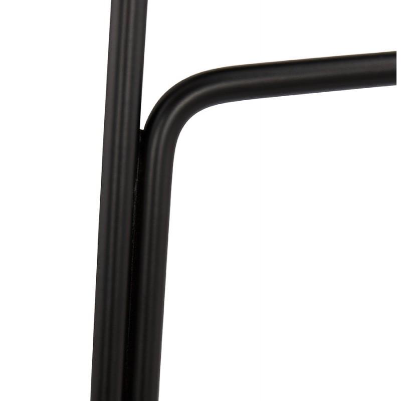 Tabouret de bar chaise de bar industriel en tissu pieds métal noir CUTIE (gris anthracite) - image 46883