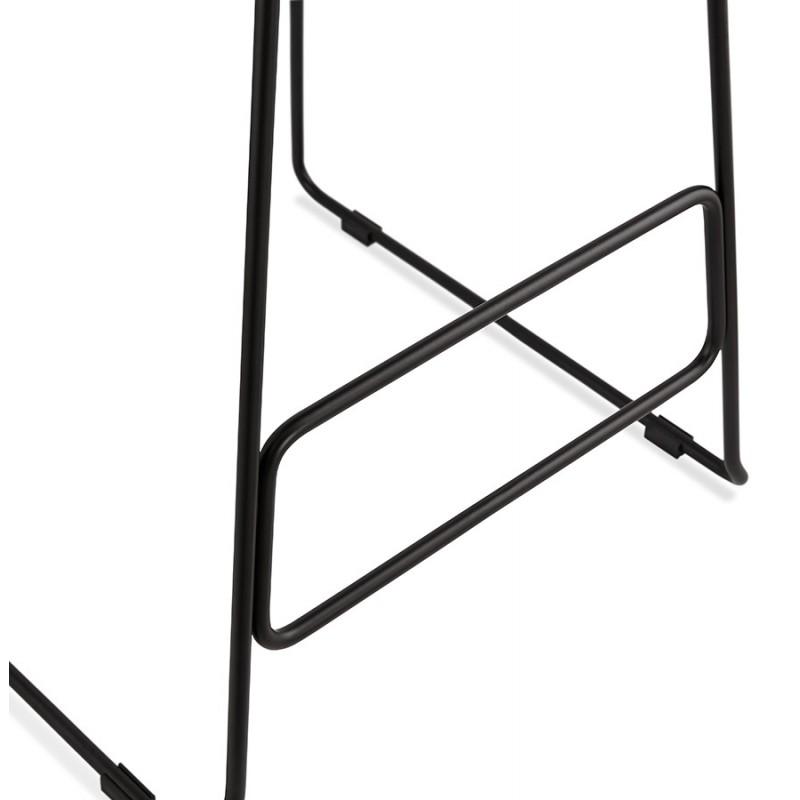 Tabouret de bar chaise de bar industriel en tissu pieds métal noir CUTIE (gris anthracite) - image 46884