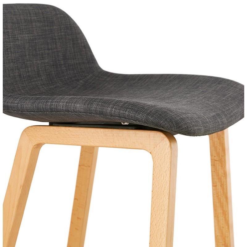 Pad bar scandinavo a media altezza in tessuto per piedi di colore naturale MELODY MINI (grigio antracite) - image 46907