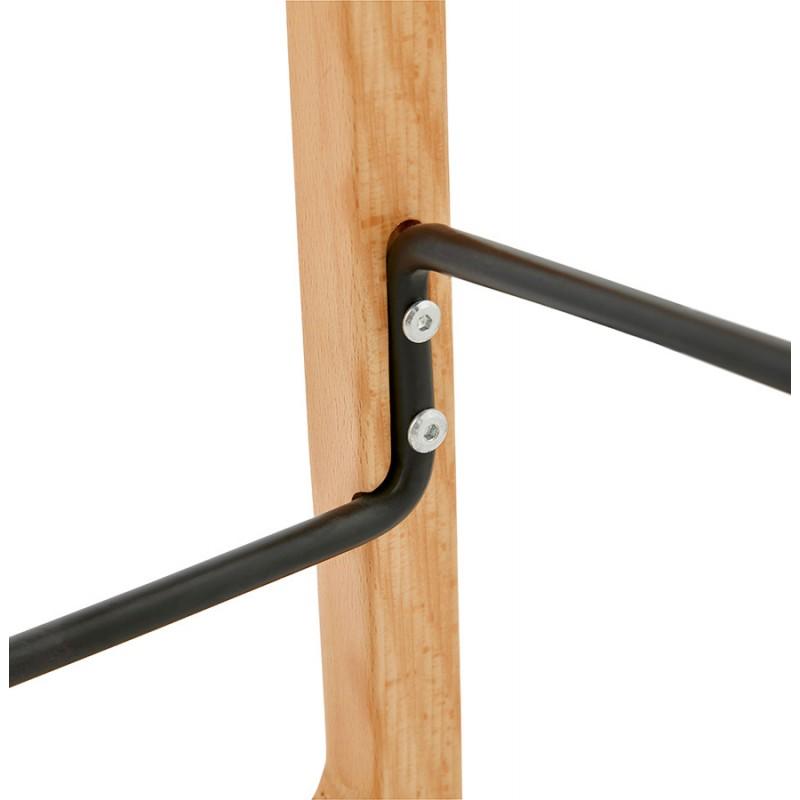 Tabouret de bar mi-hauteur scandinave en tissu pieds couleur naturelle MELODY MINI (gris anthracite) - image 46909