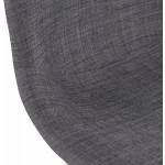 Tabouret de bar design scandinave en tissu PAOLO (gris foncé)