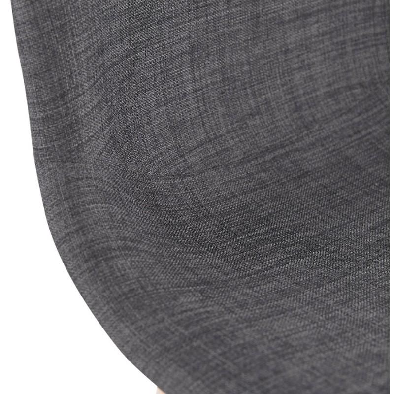 Tabouret de bar design scandinave en tissu PAOLO (gris foncé) - image 46919