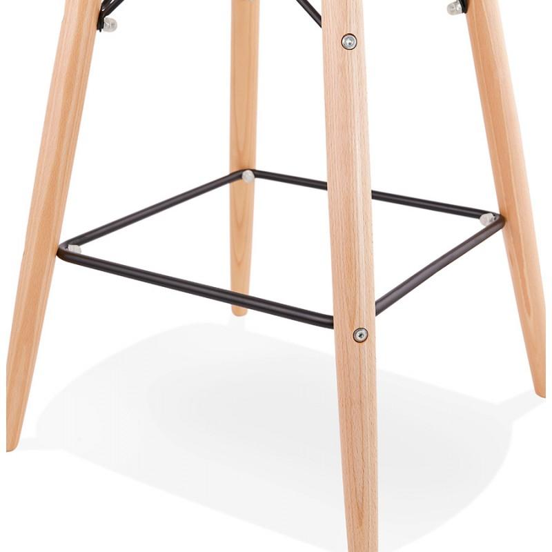 Skandinavische Design Bar Tabouret aus PAOLO Stoff (dunkelgrau) - image 46924