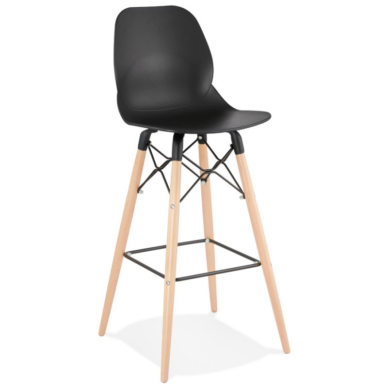 PACO Scandinavian design bar stool (black) - image 46927