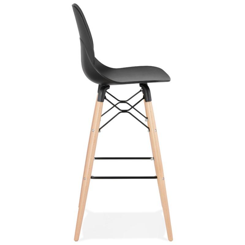 Taburete de barra de diseño escandinavo PACO (negro) - image 46929