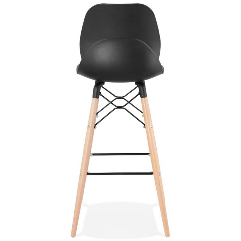 Taburete de barra de diseño escandinavo PACO (negro) - image 46931