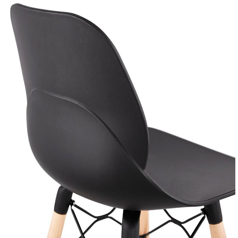Taburete de barra de diseño escandinavo PACO (negro) - image 46933